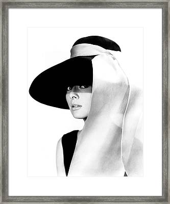 Audrey Hepburn As Holly Golightly Framed Print