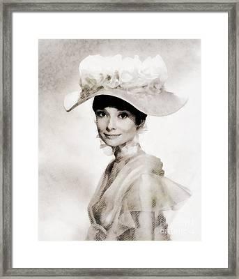 Audrey Hepburn, Vintage Hollywood Legend Framed Print
