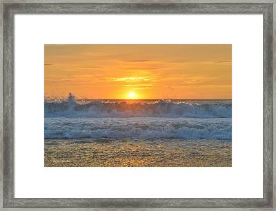 August Sunrise   Framed Print