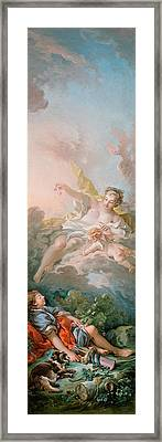 Aurora And Cephalus Framed Print by Francois Boucher