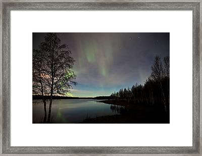 Aurora At The Lake Framed Print