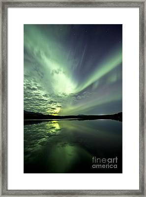 Aurora Borealis Over Schwatka Lake Framed Print by Jonathan Tucker