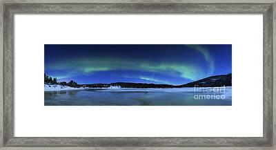 Aurora Borealis, Tennevik Lake, Troms Framed Print by Arild Heitmann