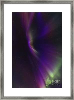 Aurora Corona In The Sky Of Iceland Framed Print