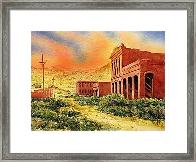 Aurora Ghost Town Nevada Framed Print by Kevin Heaney