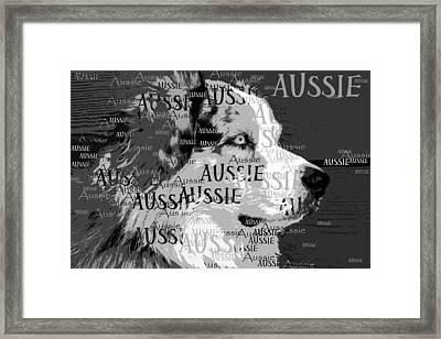 Aussie Framed Print by Nancy Merkle