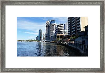 Australia - Brisbane River Boardwalk Framed Print by Jeffrey Shaw