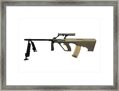 Austrian 5.56mm Steyr Aug Light Support Framed Print by Andrew Chittock