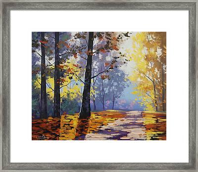 Autumn Backlight Framed Print by Graham Gercken