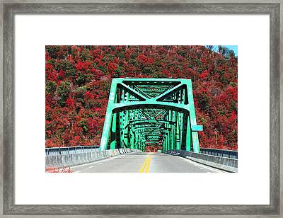 Autumn Bridge Framed Print