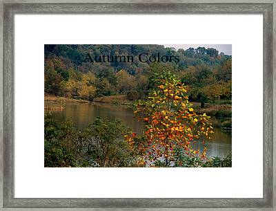 Autumn Colors Framed Print by Gary Wonning