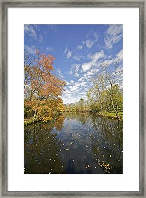 Autumn Colors On The Delaware And Raritan Canal Framed Print