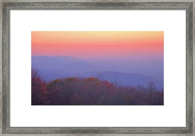 Framed Print featuring the photograph Autumn Dawn by Stephen  Vecchiotti
