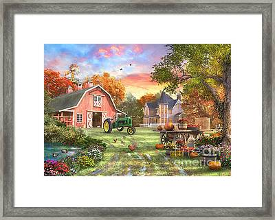Autumn Farm Framed Print by Dominic Davison