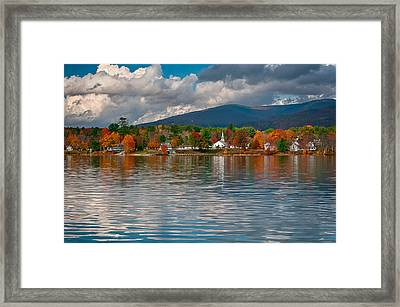 Autumn In Melvin Village Framed Print