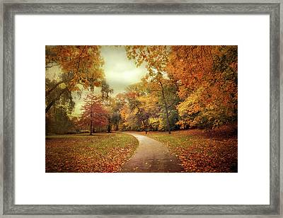 Autumn In Peak Framed Print by Jessica Jenney