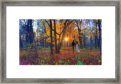 Autumn In The Meadow Framed Print by Michael Rucker