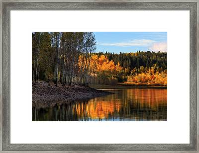 Autumn In The Wasatch Mountains Framed Print