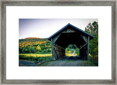 Autumn In Vermont Framed Print by Mountain Dreams