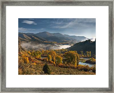 Autumn Light Along The Snake River Framed Print by Leland D Howard