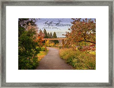Autumn Framed Print by Mary Timman