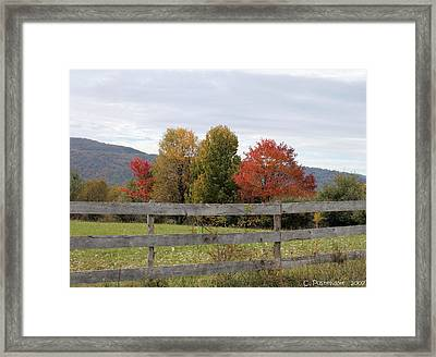 Autumn On Point Mountain Framed Print