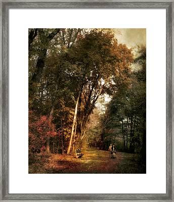 Autumn Promenade Framed Print
