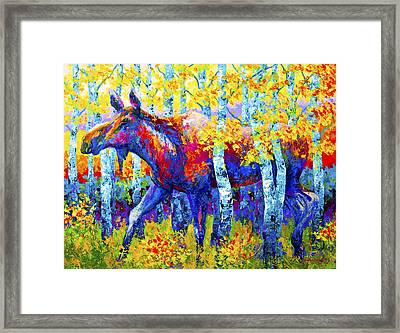 Autumn Queen Framed Print by Marion Rose