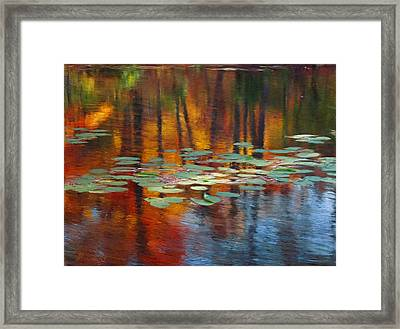 Autumn Reflections I Framed Print by Ron Morecraft