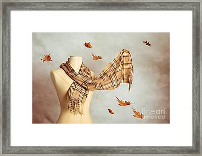 Autumn Scarf Framed Print