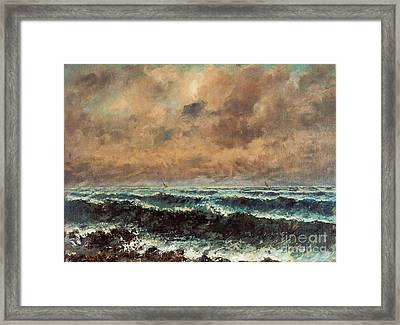 Autumn Sea Framed Print by Celestial Images