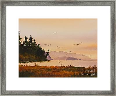 Framed Print featuring the painting Autumn Shore by James Williamson