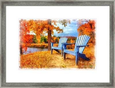 Autumn Splendor Watercolor Framed Print by Edward Fielding