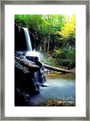 Autumn Upper Falls Holly River Framed Print by Thomas R Fletcher