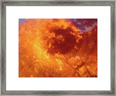 Autumnal Swirl Lll Framed Print by Charles Shedd