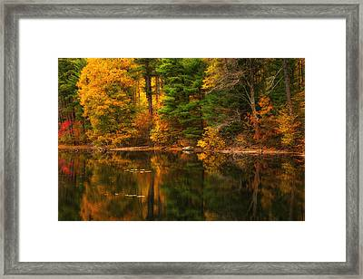 Autumns Calm Framed Print