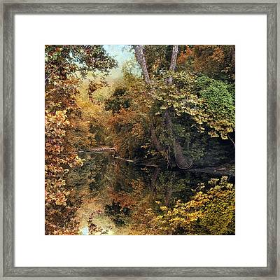 Autumn's Mirror Framed Print by Jessica Jenney