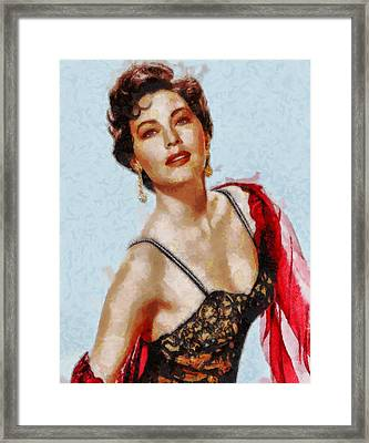 Ava Gardner Hollywood Actress Framed Print by John Springfield