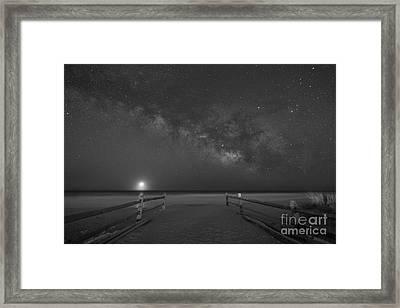 Avalon New Jersey Milky Way Rising  Framed Print by Michael Ver Sprill