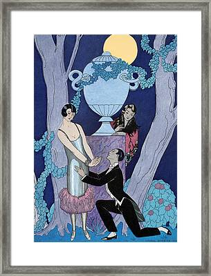Avarice Framed Print by Georges Barbier