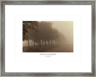 Framed Print featuring the digital art Avenue Des Arbres by Julian Perry