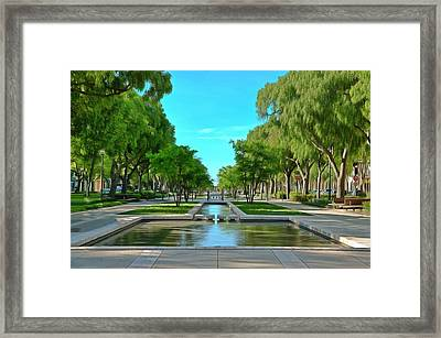 Avenue Jean Jaures Nimes Framed Print by Scott Carruthers