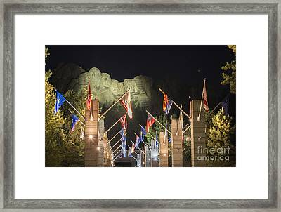 Avenue Of Flags Framed Print