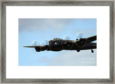 Avro Lancaster Framed Print by Angel  Tarantella