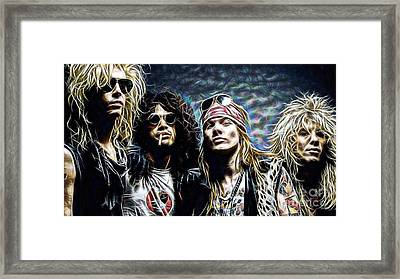 Axl Rose And Slash Guns N Roses Framed Print