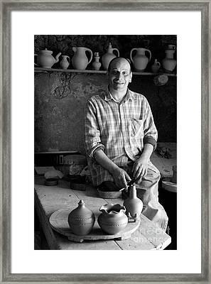 Azorean Potter Framed Print by Gaspar Avila