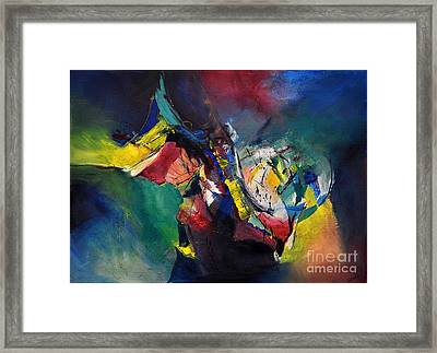 Aztec Man Framed Print by Glory Wood