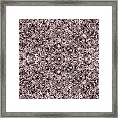 Aztec Navajo Pattern Background Framed Print by Nenad Cerovic
