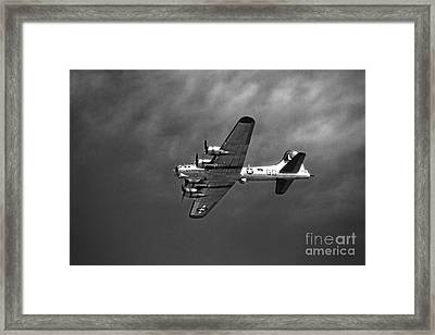 B-17 Bomber - Infrared Framed Print