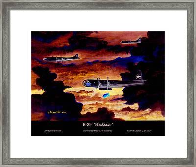 B-29 Bockscar Framed Print by Dennis Vebert